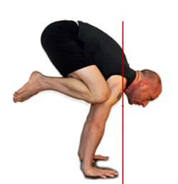 David Keil in Bakasana with Line