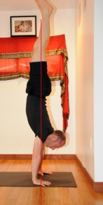 David Keil in Handstand with line