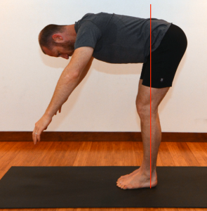 Sun Salutations forward fold knees bent