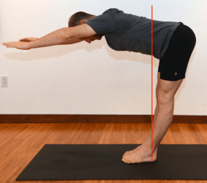 sun salutations forward fold knees straight