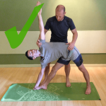 yoga adjustments triangle correct