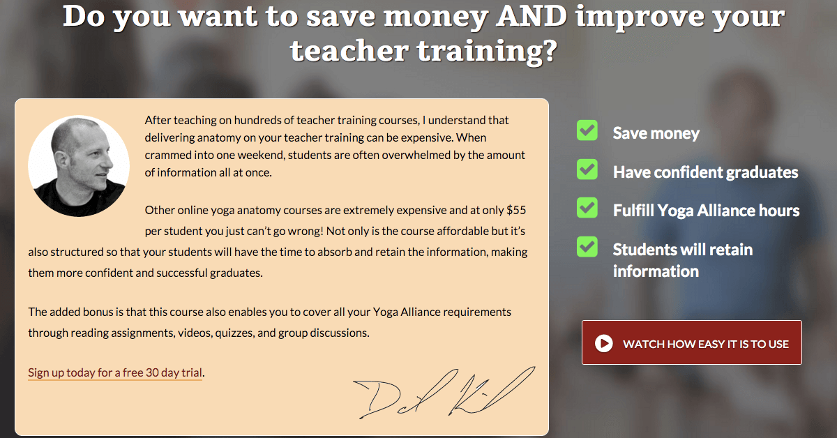 20 hour Online Yoga Anatomy Course for Teacher Training Programs