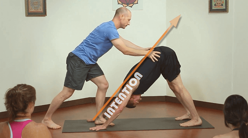yoga adjustments intention