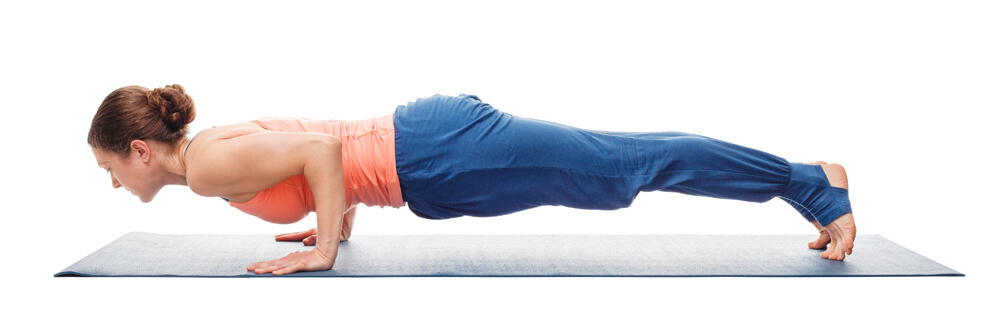 triceps brachii in chaturanga dandasana