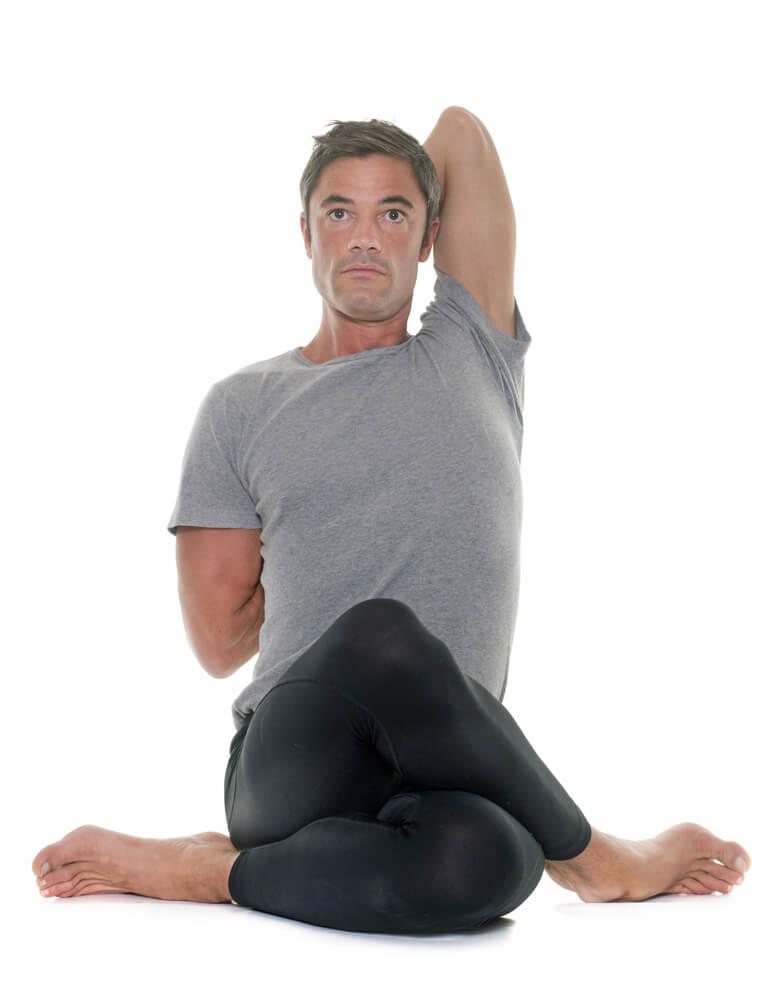 triceps brachii in gomukhasana