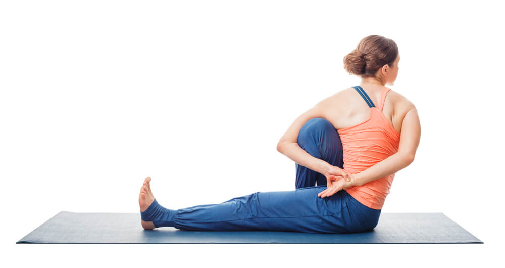 external and internal oblique muscles in Marichyasana C