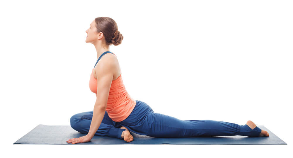 psoas muscle in pigeon pose