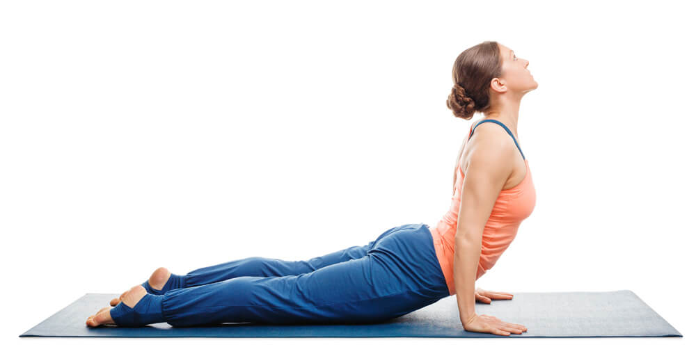 Squeezing the Shoulder Blades Together in Upward Facing Dog
