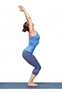 deltoid muscles in utkatasana