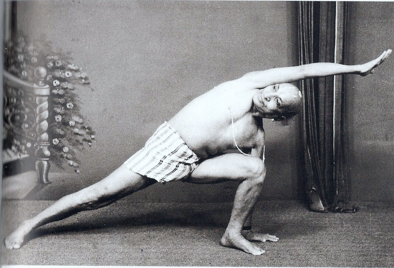Krishnamacharya With Knee In Front Of Ankle In Side Angle