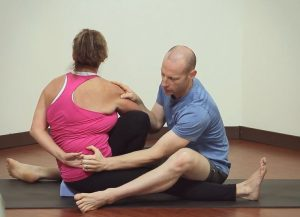 Hand Binding Assist When Adjusting Marichyasana C