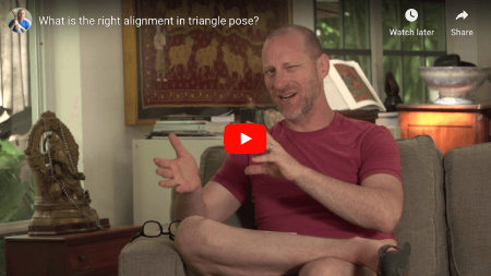 "Featured image for ""Alignment In Triangle Pose: What's Correct?"""
